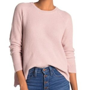 Madewell Sweater Province XL Cross Back Rose Pink
